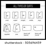 all types of shirt cuffs.... | Shutterstock .eps vector #505696459
