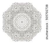mandala. oriental pattern.... | Shutterstock .eps vector #505702738