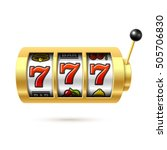 slot machine with lucky sevens... | Shutterstock .eps vector #505706830