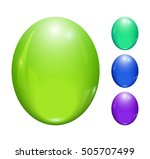 set of colored 3d buttons.... | Shutterstock .eps vector #505707499