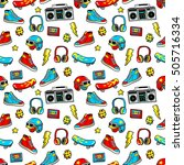seamless pattern with fashion... | Shutterstock .eps vector #505716334