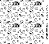 seamless pattern with... | Shutterstock .eps vector #505716973