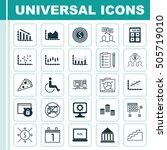 set of 25 universal editable... | Shutterstock .eps vector #505719010