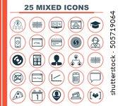 set of 25 universal editable... | Shutterstock .eps vector #505719064