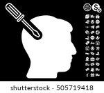 head surgery screwdriver... | Shutterstock .eps vector #505719418