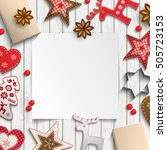 abstract christmas background ... | Shutterstock .eps vector #505723153