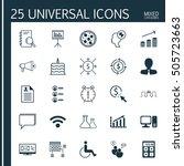 set of 25 universal editable... | Shutterstock .eps vector #505723663