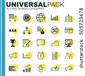 set of 25 universal editable... | Shutterstock .eps vector #505723678
