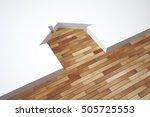 3d illustration parquet texture ... | Shutterstock . vector #505725553