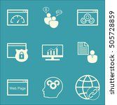 set of advertising icons on... | Shutterstock .eps vector #505728859
