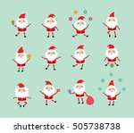 merry christmas santa claus... | Shutterstock .eps vector #505738738