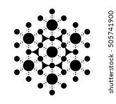 black and white pattern flower... | Shutterstock .eps vector #505741900