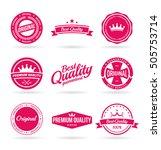 set of vector premium quality... | Shutterstock .eps vector #505753714