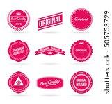 set of vector premium quality... | Shutterstock .eps vector #505753729