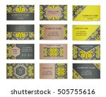 set of business cards. template ... | Shutterstock .eps vector #505755616