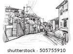 Sketch City Scape Of Local...
