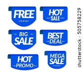 sale tags labels. special offer ... | Shutterstock . vector #505758229