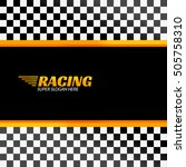 racing background with race...   Shutterstock . vector #505758310