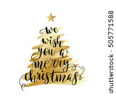 we wish you a merry christmas....   Shutterstock .eps vector #505771588