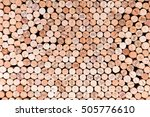 Stacking Wine Cork Background...