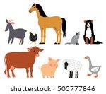 farm animals | Shutterstock .eps vector #505777846