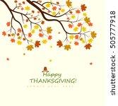 thanksgiving design   Shutterstock .eps vector #505777918