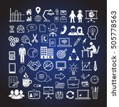 hand drawn business icons.... | Shutterstock .eps vector #505778563