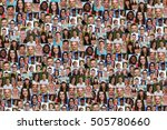 young people background collage ... | Shutterstock . vector #505780660