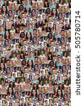 collection of young people... | Shutterstock . vector #505780714