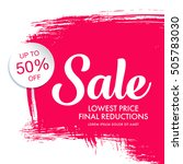 sale banner template design | Shutterstock .eps vector #505783030