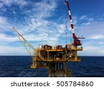 offshore production platform... | Shutterstock . vector #505784860