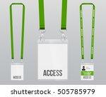 set of lanyard and badge.... | Shutterstock .eps vector #505785979