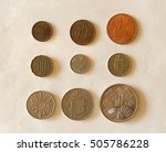 Small photo of farthing (quarter of 1d), half-penny, penny, three-pence, six-pence, shilling (1s), two shillings (2s), half-crown (2/6), coronation crown (5/-)