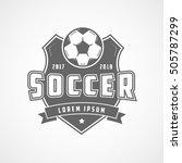 soccer 2017 2018 emblem flat... | Shutterstock .eps vector #505787299