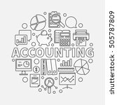 accounting round linear... | Shutterstock .eps vector #505787809