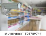 cctv security in library | Shutterstock . vector #505789744
