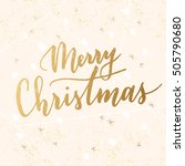 vector hand written greeting... | Shutterstock .eps vector #505790680