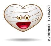 mummy halloween heart  vector...   Shutterstock .eps vector #505802074