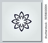 vector flower icon | Shutterstock .eps vector #505803004
