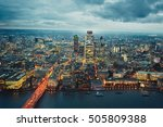 city of london at the dusk  the ... | Shutterstock . vector #505809388