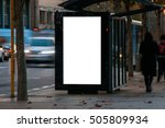 blank outdoor bus advertising... | Shutterstock . vector #505809934