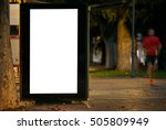 blank outdoor bus advertising... | Shutterstock . vector #505809949