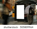 blank outdoor bus advertising... | Shutterstock . vector #505809964
