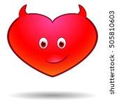 devil halloween heart  vector... | Shutterstock .eps vector #505810603