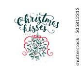 vector holiday calligraphy  ...   Shutterstock .eps vector #505812313