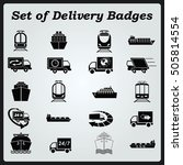 delivery sign icons   car icons ... | Shutterstock .eps vector #505814554