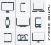 modern digital devices icons | Shutterstock . vector #505816960