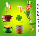 happy saint patricks day icon | Shutterstock .eps vector #505818118