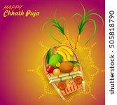 illustration of happy chhath... | Shutterstock .eps vector #505818790