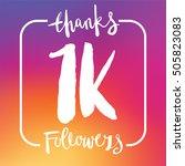 1 thousand followers online... | Shutterstock .eps vector #505823083